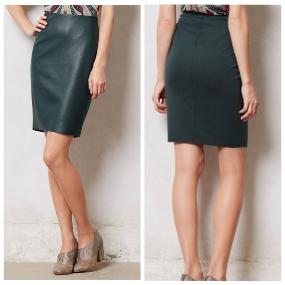 d561764f09 Bailey 44 Dresses & Skirts - Bailey 44 | Green Faux Leather Pencil Skirt